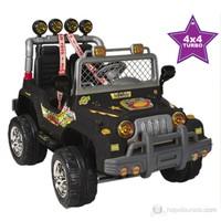 Aliş Mega Akülü Jeep / Siyah