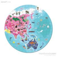 Janod Hat Boxed Double Sıded Puzzle ''Our Blue Planet'' 208 Parça
