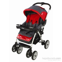 Baby Max Polo Bebek Arabası / Gri Kırmızı
