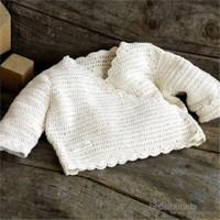Natures Purest Pure Love Girls Crochet Cardian Organik Hırka Kız 0-3 Ay