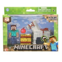 Minecraft Steve An Horse Figür Oyuncak