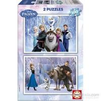 Educa 2 X 100 Parçalık Çocuk Yapboz Disney Frozen