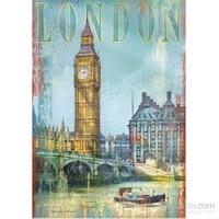 Clementoni 500 Parça Ahşap Efektli Puzzle - London
