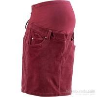bonprix Kırmızı Hamile Giyim Kadife Etek 34-54 Beden