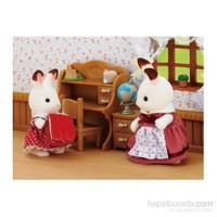 Sylvanian Families / Kahverengi Kulaklı Tavşan Kız Kardeş & Çalışma Masası (ESF2204)