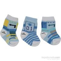 Babyjem 3'lü Erkek Trafik Bebe Çorap
