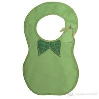 BabyJem Armut Desenli Mama Önlüğü / Yeşil
