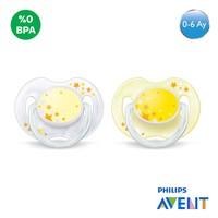 Philips Avent SCF176/68 0% BPA Yalancı Emzik 0-6 Ay (Karanlıkta Parlar,2'li)