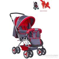 Holmen Çift Yönlü Bebek Arabası Kırmızı