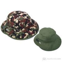 Baby Banz Yeşil Kamo Çift Taraflı Şapka Unisex