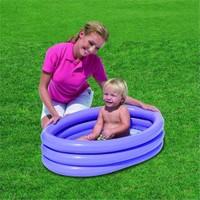Bestway 3 Halkalı Renkli Çocuk Havuzu ( 91 x 66 cm) / Lila