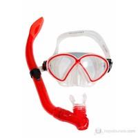 Ravel M9610P + SN23P Maske Şnorkel / Kırmızı