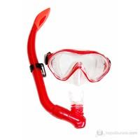 Ravel M9620P + SN23P Maske Şnorkel / Kırmızı