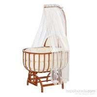 Baby Tech 112 Saraylı Ahşap Bebek Beşiği Naturel