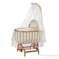 Baby Tech 122 Saraylı Fantezi Ahşap Bebek Beşiği Naturel