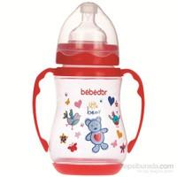 Bebedor Geniş Ağız Kulplu Biberon 250 ml / Pembe