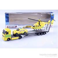 Nani Toys Ambulans Tır Helikopter Taşıyıcı 1/64 Diecast Model Araç Seti