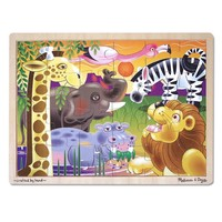 Melissa&Doug Ahşap Safari 24 Parça Yapboz