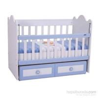 Baby Hope 900 Asansörlü Beşik Beyaz Mavi 60X120 Cm