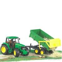 Bruder John Deere 6920 Traktör & Römork 02058