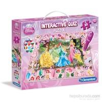 Clementoni Interactive Quiz Puzzle Yarışması Princess