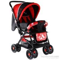 Diamond Baby P101 Çift Yönlü Lüks Bebek Arabası / Kırmızı-Siyah