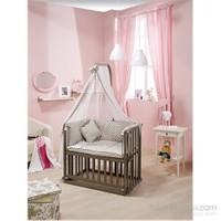 Bebedecor Anne Yanı Beşik Antrasit Mobilya / Baloncuk Gri Tekstil