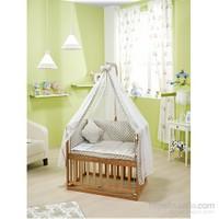 Bebedecor Anne Yanı Beşik Naturel Mobilya / Baloncuk Gri Tekstil