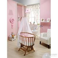 Bebedecor Ege Beşik Ceviz Mobilya / Pembe Tekstil