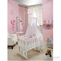 Bebedecor Angel Beşik Beyaz Mobilya / Pembe Tekstil