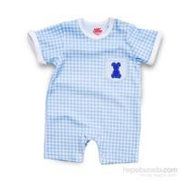 Baby Corner Pötikare Kısa Tulum / Beyaz Mavi