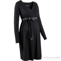bonprix Siyah Emzirme Özellikli Elbise/Hamile Giyim Elbise 34-54 Beden