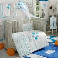 Kidboo Happy Birthday Blue 4 Parça Bebek Nevresim Takımı