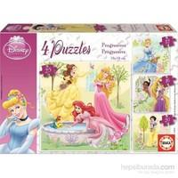 Dısney Prıncess - 12+16+20+25 Parça Puzzle