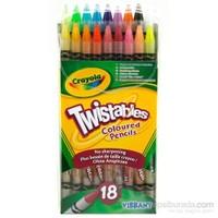 Crayola 18 Çevrilebilen Kuru Boya Kalemi