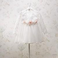 Mona Rosa Elbise - Beyaz