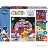 Educa Mıckey Mouse Club House - 12 16 20 25 Parça Puzzle