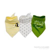 Baby Corner 3'Lü Fular Önlük - Arı -Sarı Yeşil