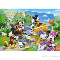 Clementoni Camping Mickey - 104 Parça Çocuk Puzzle