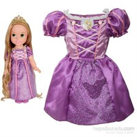 Disney Prenses Rapunzel Kostümlü Ve Bebek Seti 2-4 Yaş