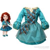 Disney Prenses Merida Kostümlü Ve Bebek Seti 2-4 Yaş
