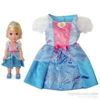 Disney Prenses Cinderella Kostümlü Ve Bebek Seti 2 - 4 Yaş