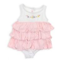 Modakids Bambaki Kız Bebek Askılı Çıtçıtlı Body 013-01103-021