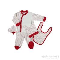 Hello Baby&Kids Çapalı 5'Li Hastane Çıkışı - Kırmızı