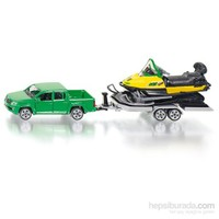 Siku Car with trailer and snow