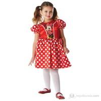 Minnie Kırmızı Klasik Çocuk Kostüm Large 7-8 Yaş