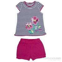Bebepan 8614 Pink 2Li Bebek Takımı Çizgili 3-6 Ay (62-68 Cm)