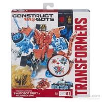 Transformers 4 Construct Bots Dino Savaşçı Seti - Autobot Drift ve Roughneck