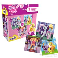 Kırkpabuç 3 Pony Puzzle 25+36+49 Parça