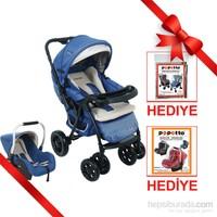 Papetto Florida Seyahat Sistem Bebek Arabası / Mavi
